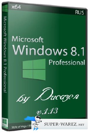 Windows 8.1 Professional x64 v.1.13 by Ducazen (2013/RUS)