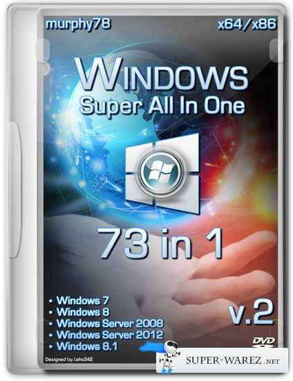 Windows Super AIO 73in1 v.2 By murphy78 (ENG/2013)