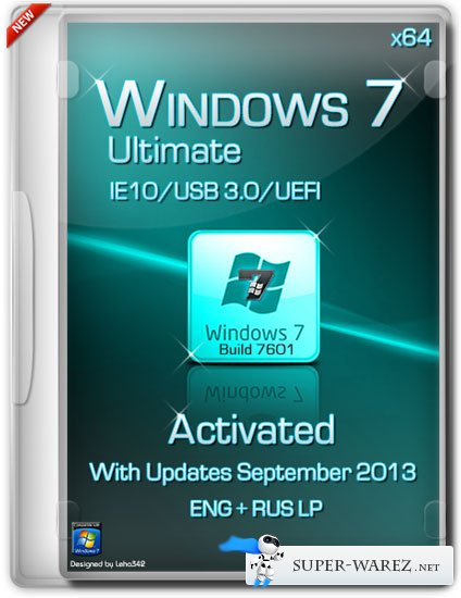 Windows 7 Ultimate SP1 x64 IE10/USB 3.0/UEFI Activated (ENG/RUS/Сентябрь 2013)