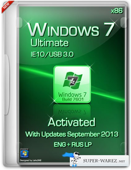 Windows 7 Ultimate SP1 x86 IE10/USB 3.0 Activated (ENG/RUS/Сентябрь 2013)