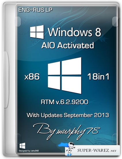 Windows 8 x86 18in1 RTM Build 9200 AIO Activated September 2013 (ENG/RUS)