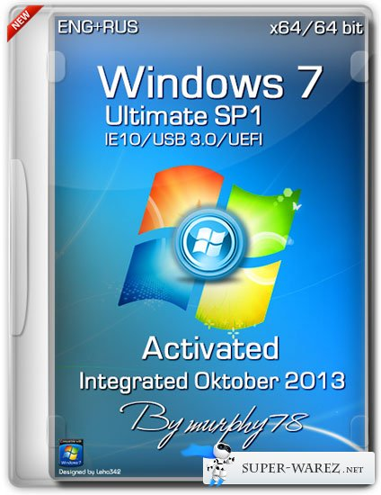 Windows 7 Ultimate SP1 x64 IE10/UEFI/USB 3.0 Activated Integrated Oktober 2013 (ENG/RUS)