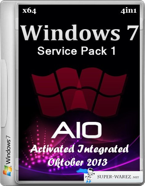 Windows 7 x64 SP1 4in1 AIO Activated Integrated Oktober 2013 (ENG/RUS)