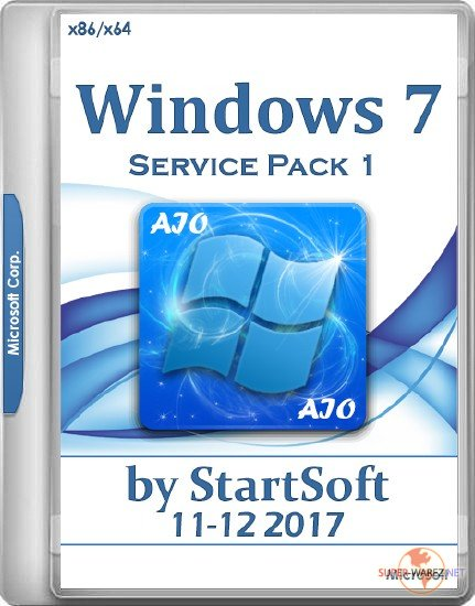 Windows 7 SP1 AIO Release by StartSoft 11-12 2017 (x86/x64/RUS)