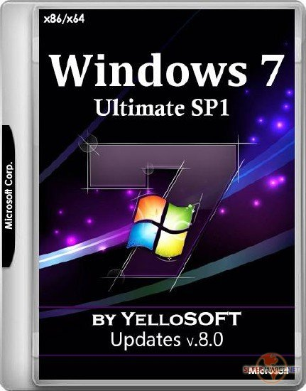 Windows 7 SP1 Ultimate x86/x64 Updates v.8.0 by YelloSOFT (RUS/2017)