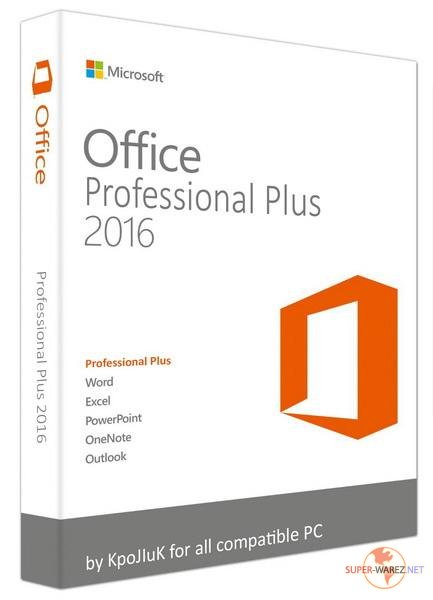 Microsoft Office 2016 Professional Plus + Visio Pro + Project Pro / Standard 16.0.4498.1000 RePack by KpoJIuK