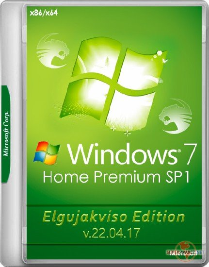 Windows 7 Home Premium SP1 x86/x64 Elgujakviso Edition v.22.04.17 (RUS/2017)
