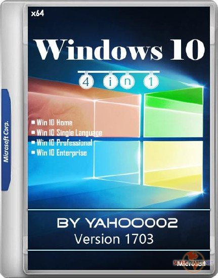 Windows 10 4in1 10.0.15063.0 Version 1703 by yahoo002 (x64/RUS)
