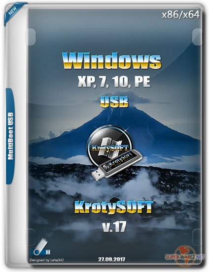 Windows XP, 7, 10, PE USB v.17 by KrotySOFT (RUS/2017)