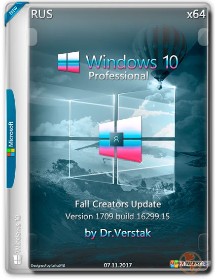 Wіndоws 10 Fall Professional x64 Vеr.1709.16299.15 by Dr.Verstak (RUS/2017)