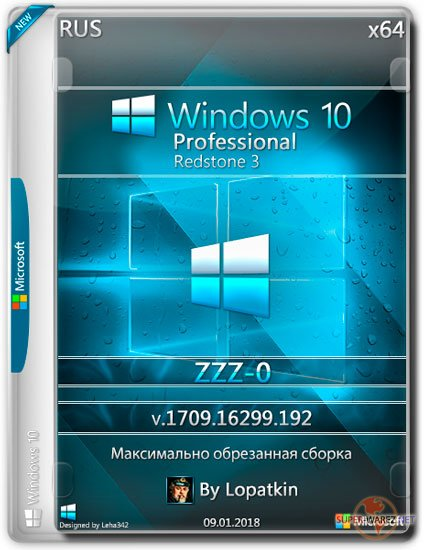 Windows 10 Pro x64 RS3 1709.16299.192 ZZZ-0 (RUS/2018)