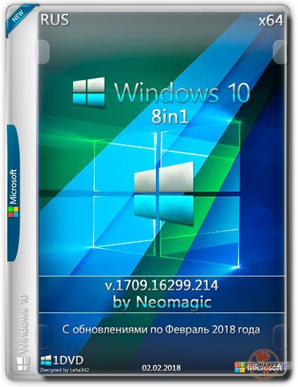 Windows 10 x64 8in1 v.1709.16299.214 by Neomagic (RUS/2018)