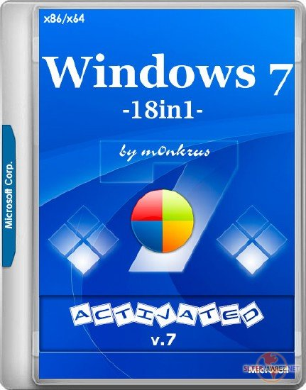 Windows 7 SP1 x86/x64 -18in1- Activated v.7 by m0nkrus (RUS/ENG/2018)