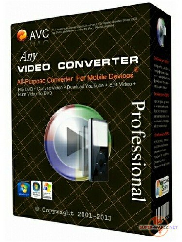 Any Video Converter Professional 6.2.4 DC 04.06.2018
