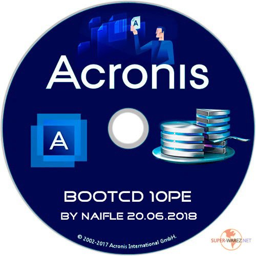 Acronis BootCD 10PE by naifle 20.06.2018 (x86/x64/RUS)